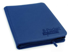 Ultimate Guard Zipfolio XenoSkin - 8 Pocket - blue